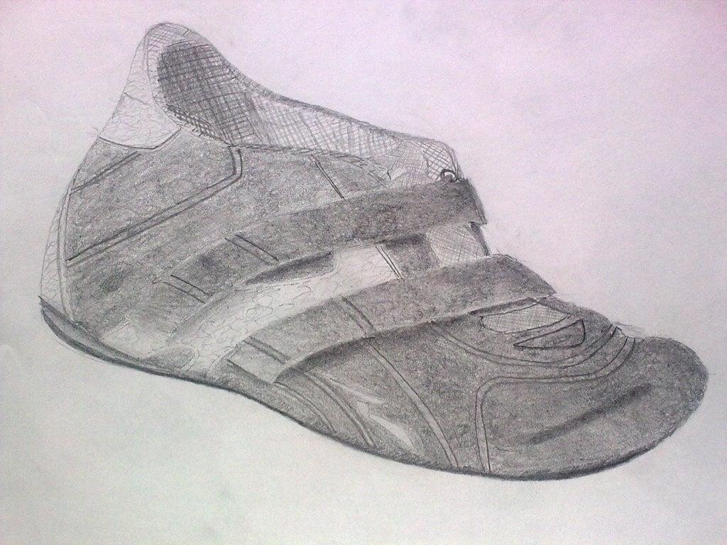 Sachzeichnen Schuh