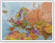 Weltkarte Fokus Europa