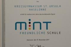 UrkundeMINT_Preis_2017
