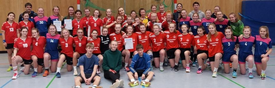Sieg beim Bezirksentscheid – Handballerinnen des KGH nun unter den vier besten Schulmannschaften Niedersachsens